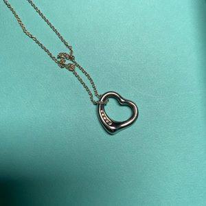 Tiffany & Co Elsa Peretti heart pendant w diamonds